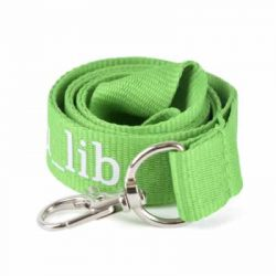 Basic Polyester Lanyard with metal hook - 900 mm