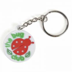 small PVC bespoke keyring - 30 x 30mm