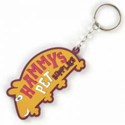 large PVC bespoke Keyring - 80 x 80mm